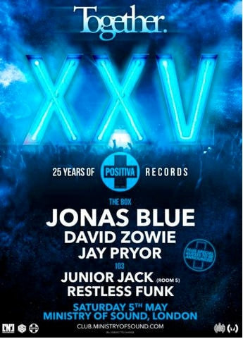 Celebrating 25 Years Of Positiva Records x Ministry Of Sound